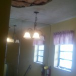 Ceiling collapsed and success if here