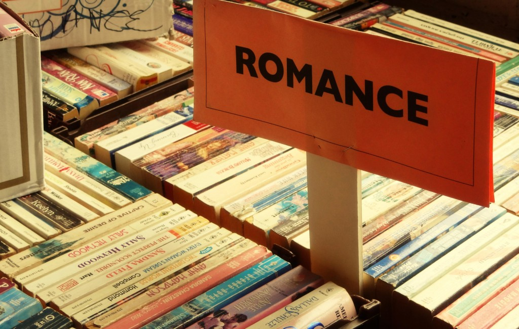 ROMANCE SECTION OF BOOK STOREE